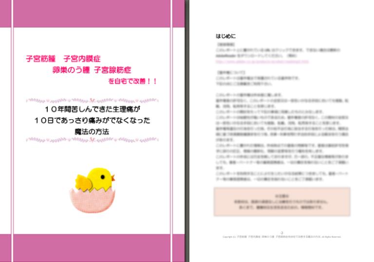 長谷川まりこさんの子宮筋腫を自宅で改善する方法 教材画像